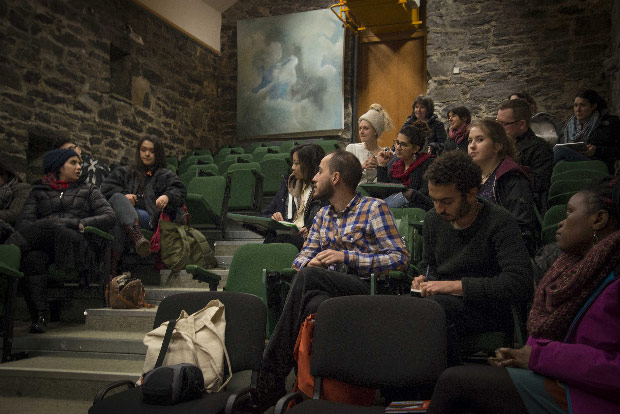 Students in Burren College of Art Lecture Hall