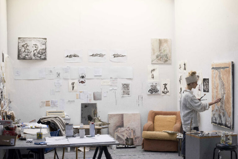 BCA student working in a Studio